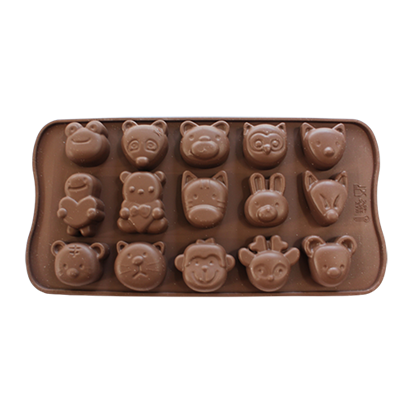 Picture of Freshware Silicone Chocolate Mould Animal Face A L3.5xW3 cm. (GC280-9464)