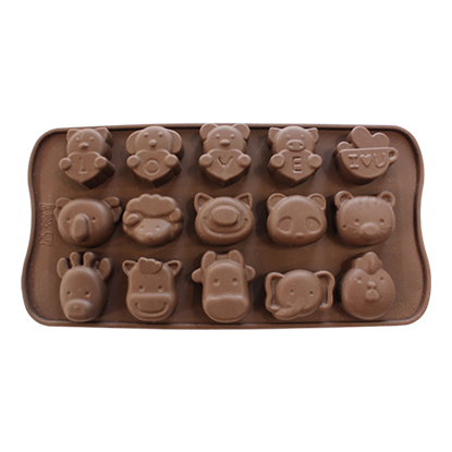 Picture of Freshware Silicone Chocolate Mould Animal Face B L3.5xW3 cm. (GC280-9465)