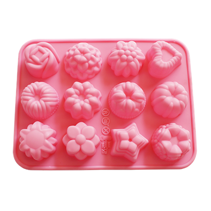 Picture of Silicone Chocolate, Jelly and Baking Mold Assorted Flower L16xW21 cm. (GC280-9265)