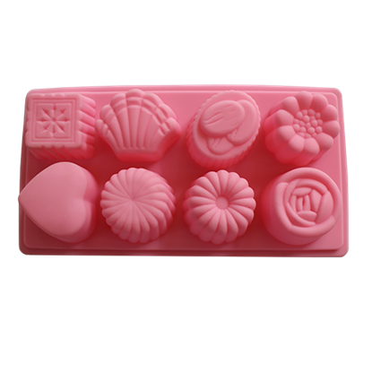 Picture of Silicone Chocolate, Jelly and Baking Mold 8 Cavities L23xW12 cm. (GC280-8468-1)