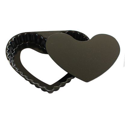 Picture of Heart Fluted Tartlet Mould, Loose Bottom, Non-Stick L16xW15xH2.5 cm. (GC280-004-0038)