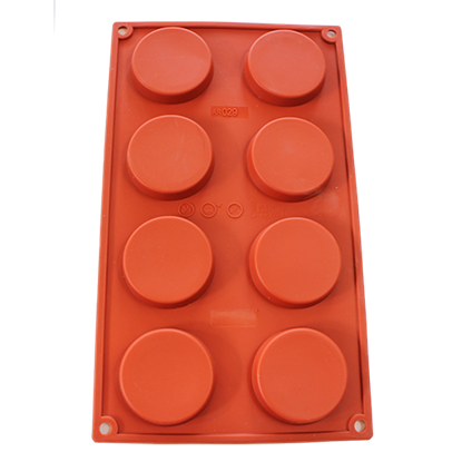 Picture of Freshware 8-Cavity Silicone Mold Shallow Round D6xH1.2 cm. (GC280-7029)