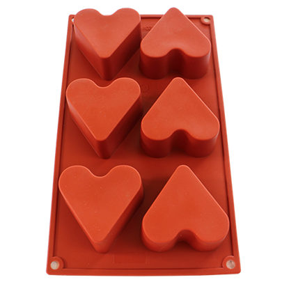 Picture of Freshware 6-Cavity Silicone Mold Heart Shape D6.5xH4 cm. (GC280-7036)