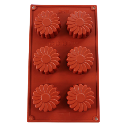 Picture of Freshware 6-Cavity Silicone Mold Daisy Flower D7xH2.8 cm. (GC280-7056)