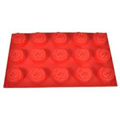 Picture of Freshware 15-Cavity Mini-Rose Silicone Mold D4xH2.6 cm. (GC280-7074)