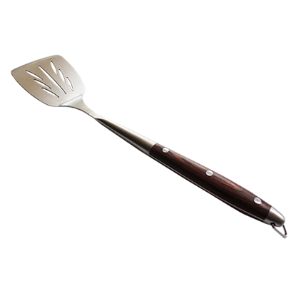 Picture of BBQ Spatula Rosewood Handle L40 cm. Thickness 1.8 mm. (SU-204SS)