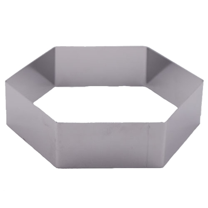 "Picture of 6""Hexagon Cake Ring 304S/S (GC280-8077-6)"