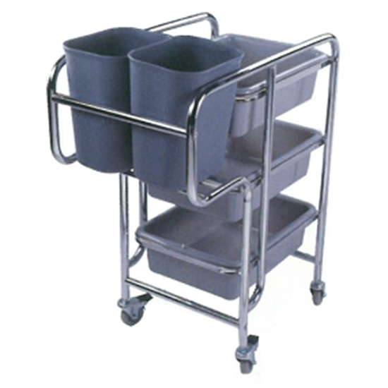 Dish Collecting Cart Stainless Steel Large Grazip