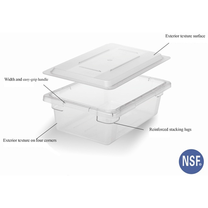 Picture of Polycarbonate Food Storage Container, Rectangle Shape 32L L66xW45.5xH16 cm. (GC226-8341)