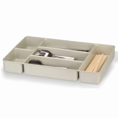 Picture of Polyethylene Cutlery Box Gray Color L49.5xW33xH7 cm. (GC226-8659)