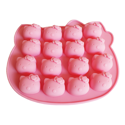 Picture of 16-Cavity Kitty Silicone Chocolate, Jelly and Baking Mold L20xW16 cm. (GC280-9689)