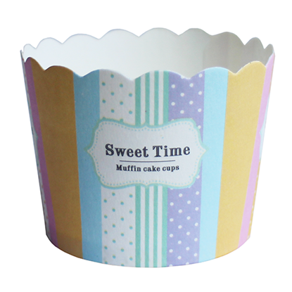 "Picture of Cup Cake 2.5"" Rainbow Pattern - 25 Pcs/Set (GC280-JS-18)"