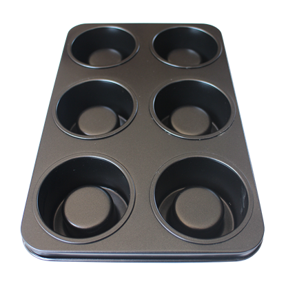 Picture of 6 Cavities Roll Muffin Pan Non-Stick Culinary Edge L30xW20xH4.8 cm.  (GC280-8830)