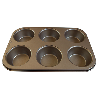 Picture of 6 Cavities Muffin Pan Non-Stick  L27xW18xH3.2 cm. Hi Grade (GC040-9020)