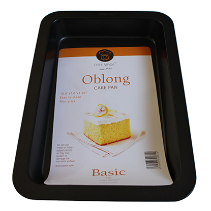 Picture of Oblong Cake Pan L27.5xW17.8xH3.6 cm. Hi Grade (GC040-9707S)
