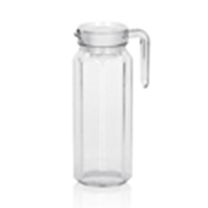Picture of Polycarbonate Easy Water Pitcher With Lid 1.0 Liter D9.3xH24.3 cm. (GC226-8564)