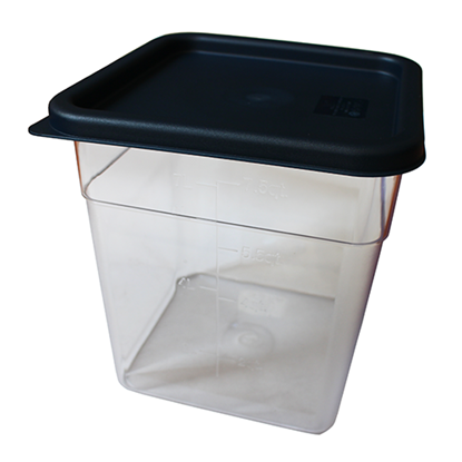 Picture of Polycarbonate Food Storage Container, Square Shape 5.5L L21.5xW21.5xH18.5 cm. (GC086-2223-BLUE-LID)